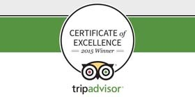 We're Rated on TripAdvisor